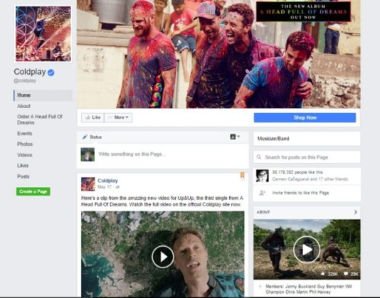 facebook new pages